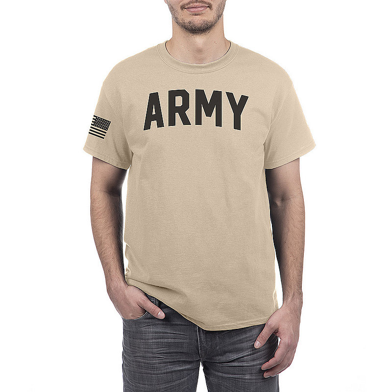 US Army Armed Forces Military Tshirt Sand