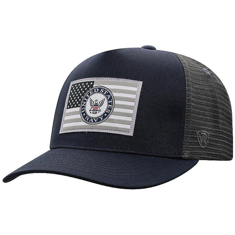 US Navy Armed Forces Military Flag Snap Back Hat Gray HRZE4-USNV-ADJ-2TN