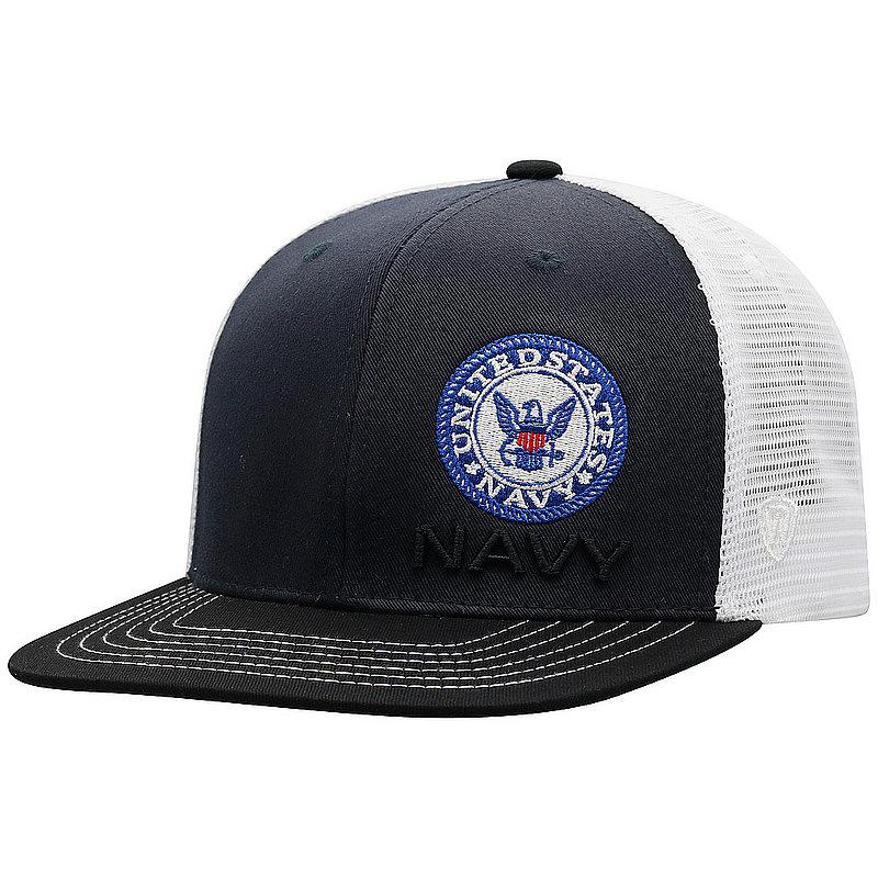 US Navy Armed Forces Military Flat Bill Hat FXTR-USNV-ADJ-3TN