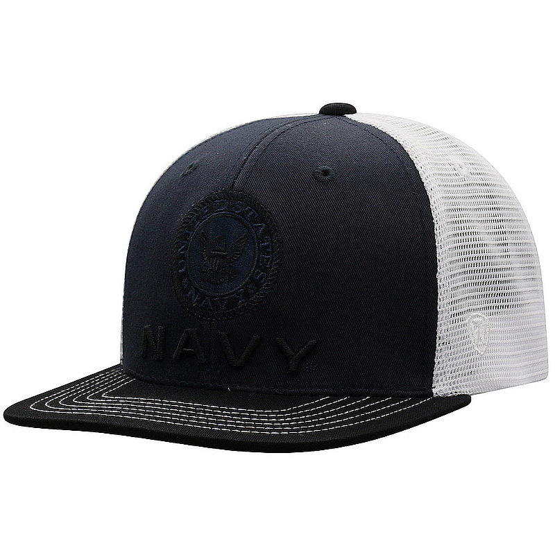 US Navy Armed Forces Military Flat Bill Hat Logo DLTA1-USNV-ADJ-3TN