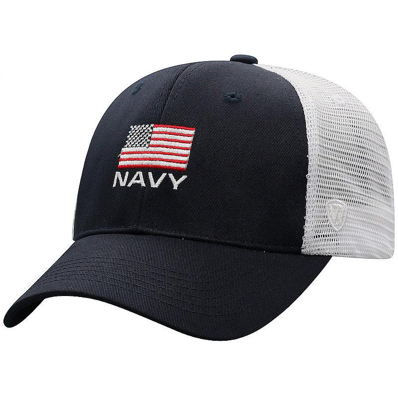 US Navy Armed Forces Military Snap Back Hat Flag Blue OSCR-USNV-ADJ-2TN