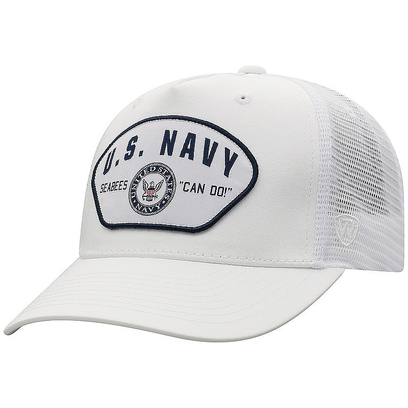 US Navy Armed Forces Military Snap Back Hat White WHKY-USNV-ADJ-WHT
