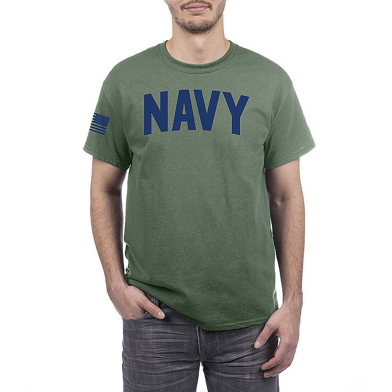 US Navy Armed Forces Military Tshirt Military Green