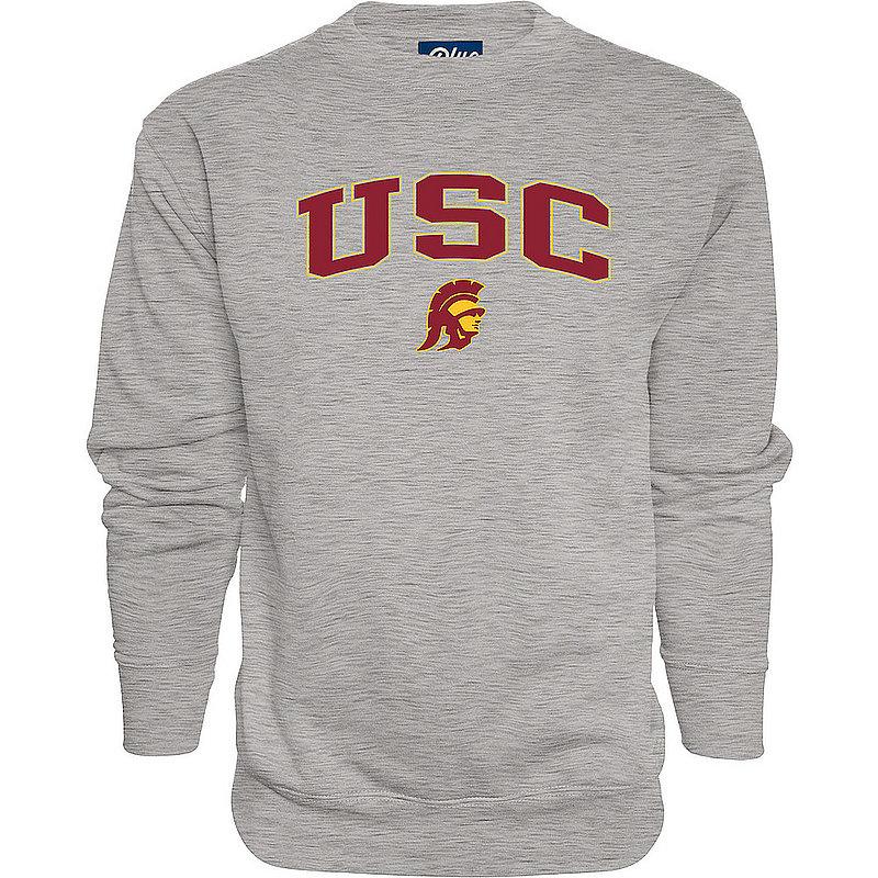 USC Trojans Crewneck Sweatshirt Varsity Charcoal Arch Over BCRC4