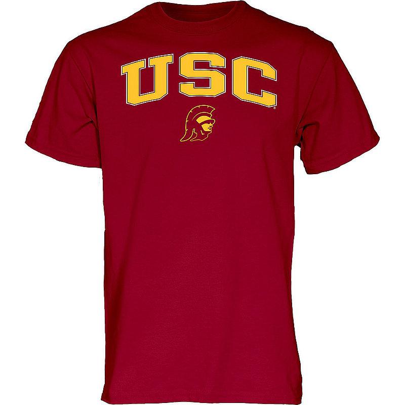 USC Trojans TShirt Varsity Cardinal Arch Over BCRC4