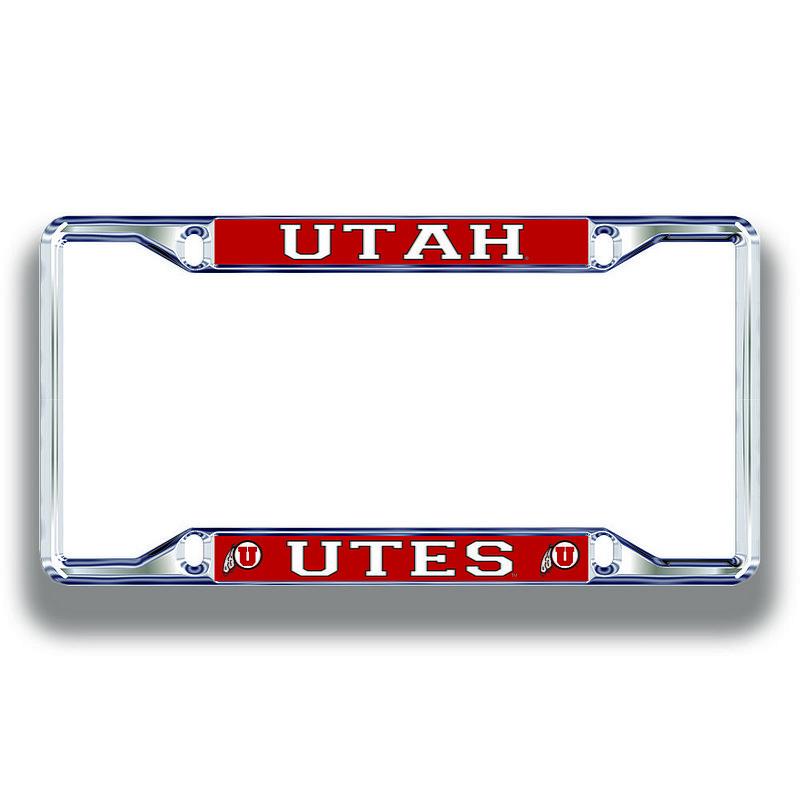 Utah Utes License Plate Frame Silver 46173