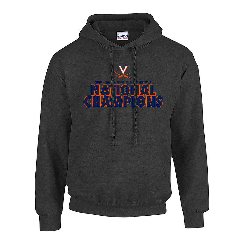 UVA Virginia Cavaliers National Basketball Champions Hooded Sweatshirt 2019 Bold Charcoal P0017714