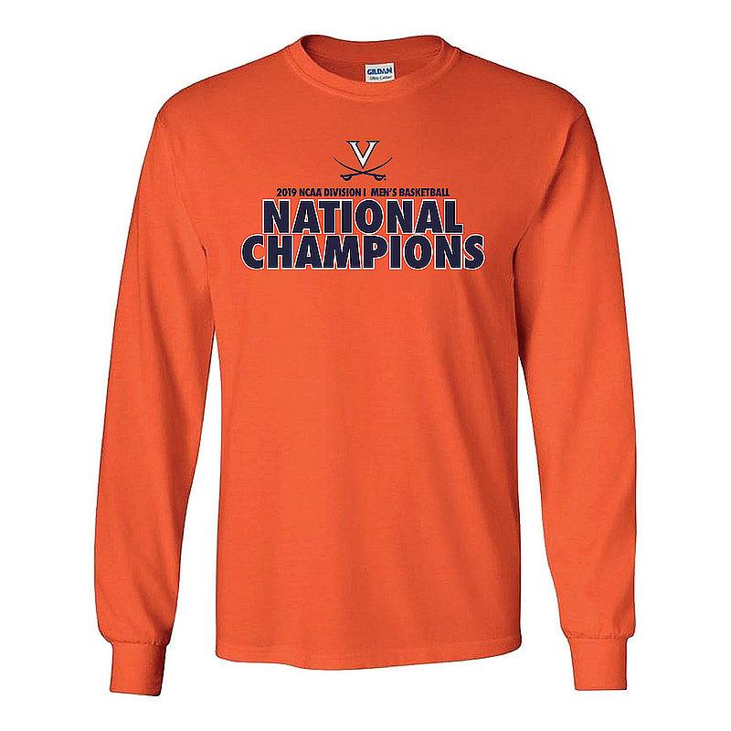 UVA Virginia Cavaliers National Basketball Champions Long Sleeve Tshirt 2019 Bold Orange P0017714