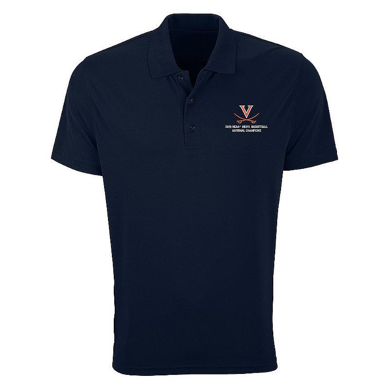 UVA Virginia Cavaliers National Basketball Champions Polo Shirt 2019 Navy e00230678