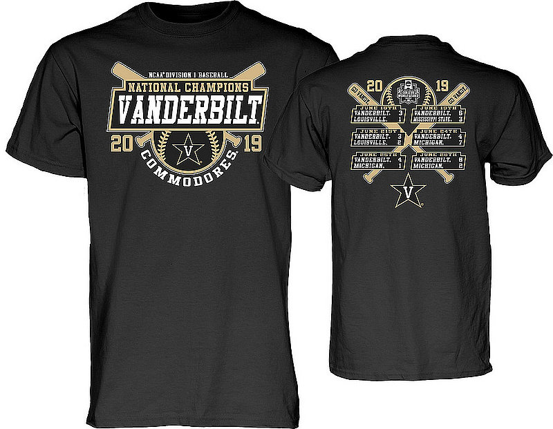 2ca3fc44 Vanderbilt Commodores Baseball College World Series Champs Tshirt CWS 2019  Scores THREATEN