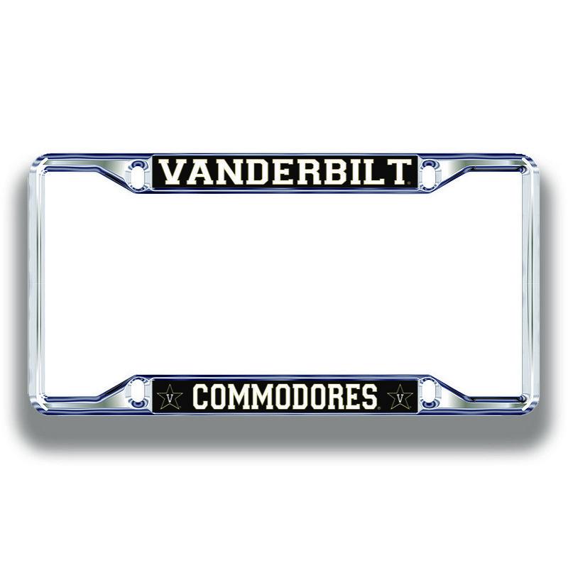 Vanderbilt Commodores License Plate Frame Silver 25700