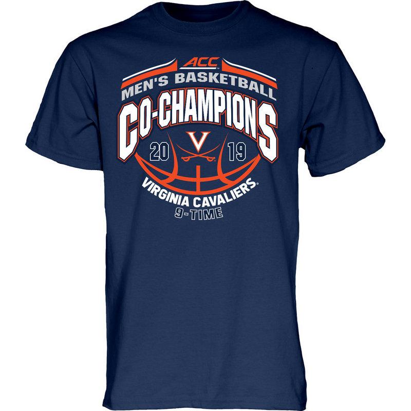 Virginia Cavaliers ACC Basketball Championship Tshirt 2019 Conference MILK DUDS