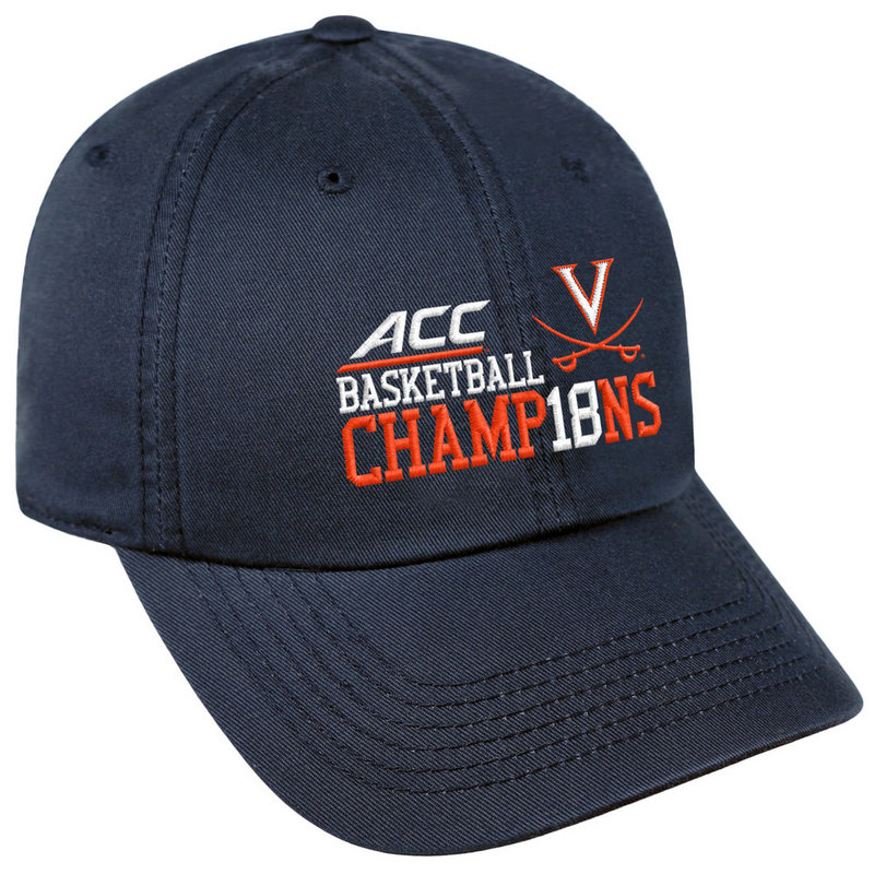 Virginia Cavaliers ACC Champs Hat Basketball 2018 ACCM-BSKBC-18C-NV01