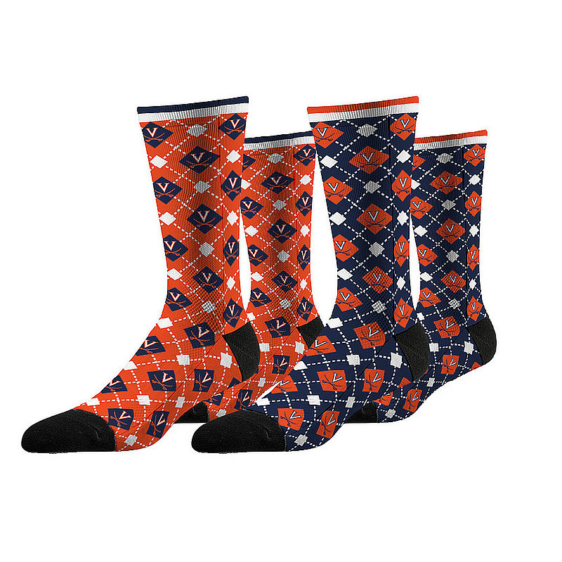 Virginia Cavaliers Argyle Sock 2-Pack