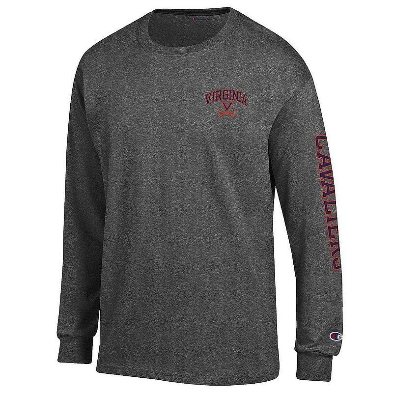 Virginia Cavaliers Long Sleeve Tshirt Letterman Charcoal APC02973495/APC02973496