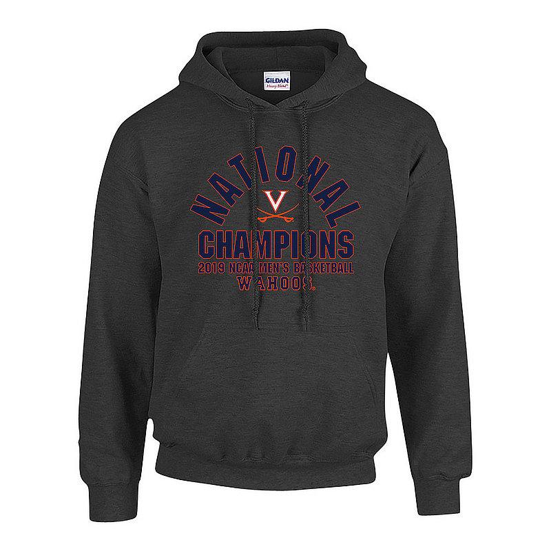 Virginia Cavaliers National Basketball Champions Hooded Sweatshirt 2019 Arch Charcoal P0017720