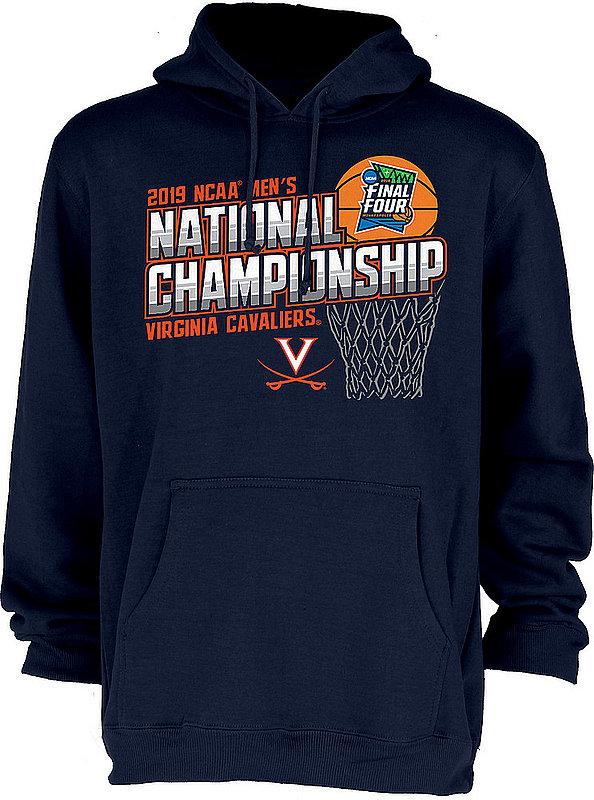 Virginia Cavaliers National Basketball Champions Hooded Sweatshirt 2019 Navy FLAGRANT