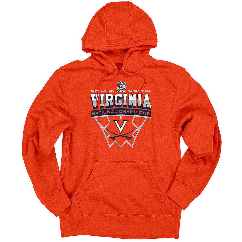 Virginia Cavaliers National Basketball Champions Hooded Sweatshirt 2019 Net Orange SCRATCHY