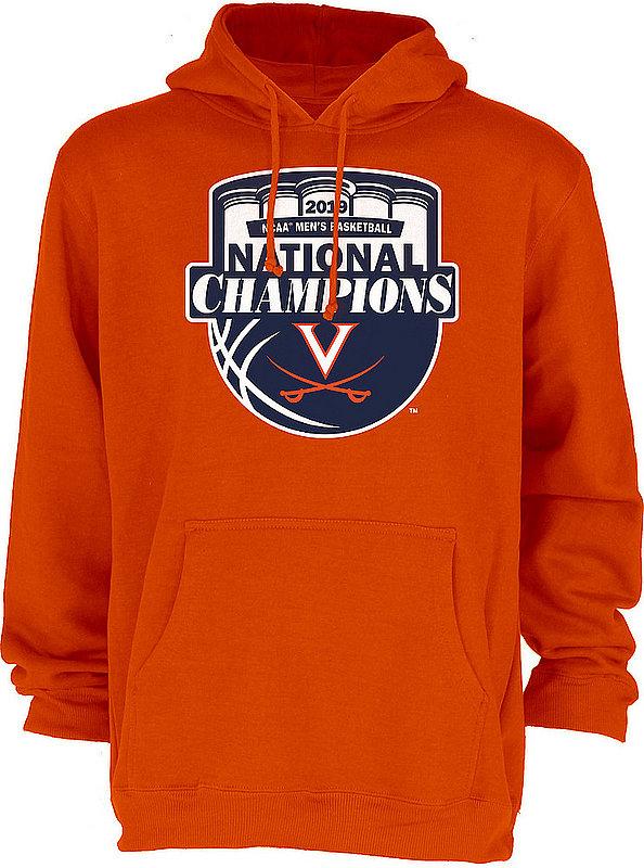 Virginia Cavaliers National Basketball Champions Hooded Sweatshirt 2019 Official Logo Orange HOT MASCOT