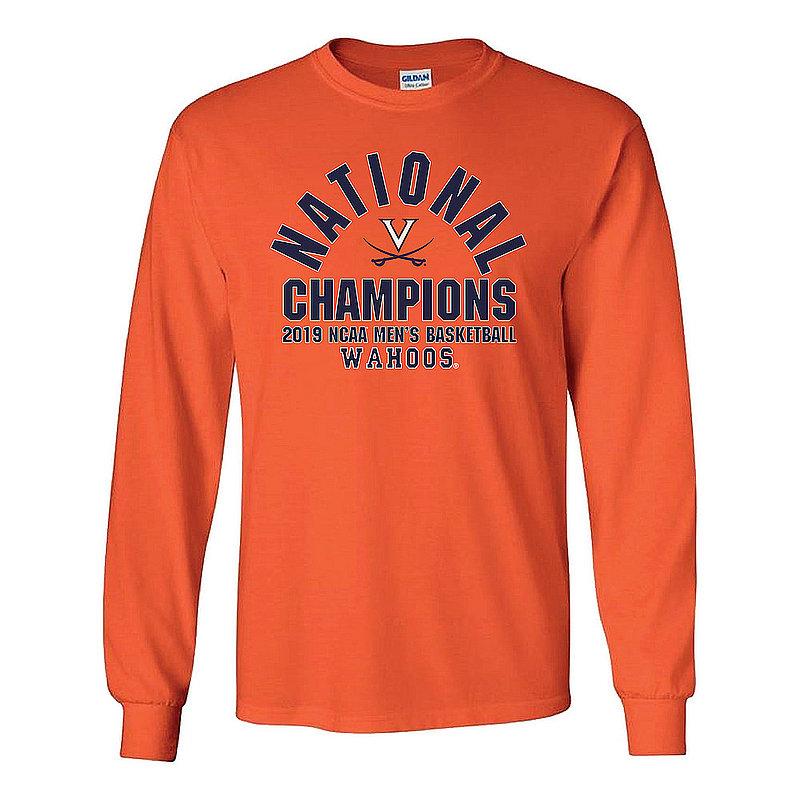 Virginia Cavaliers National Basketball Champions Long Sleeve Tshirt 2019 Arch Orange P0017720