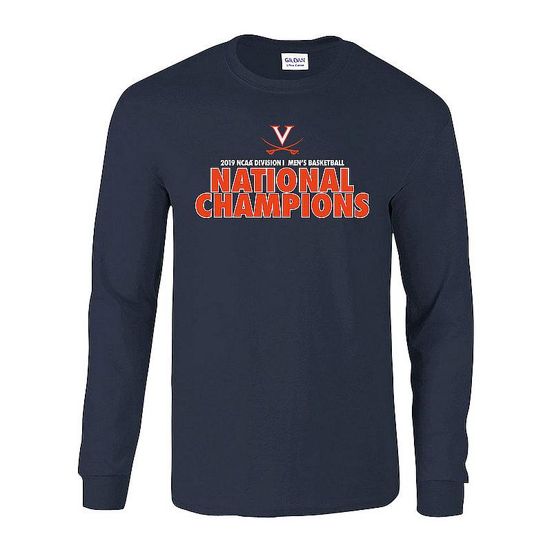 Virginia Cavaliers National Basketball Champions Long Sleeve Tshirt 2019 Bold Navy P0017714