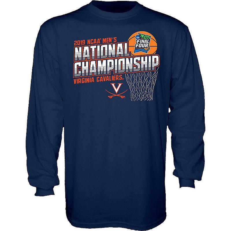 Virginia Cavaliers National Basketball Champions Long Sleeve Tshirt 2019 Navy FLAGRANT
