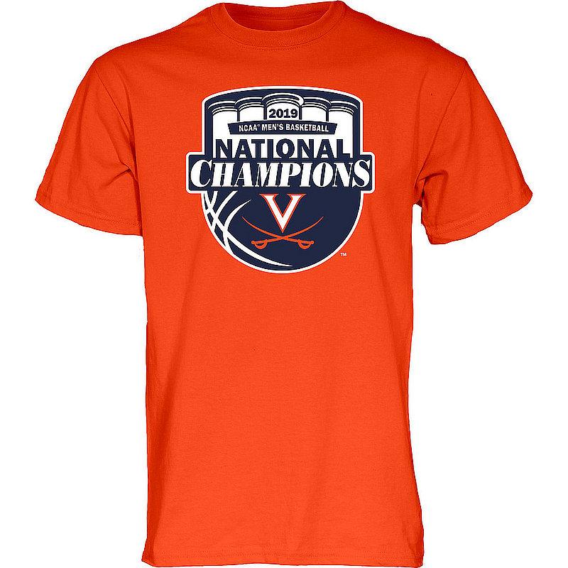 Virginia Cavaliers National Basketball Champions Tshirt 2019 Official Logo Orange HOT MASCOT