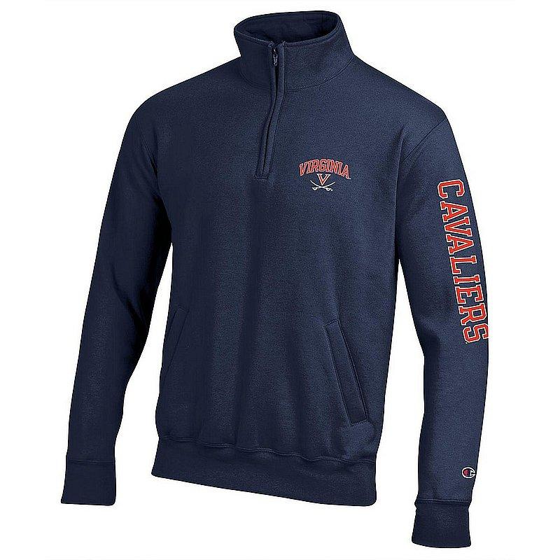 Virginia Cavaliers Quarter Zip Sweatshirt Letterman Navy