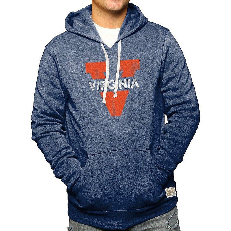 Virginia Cavaliers Retro Hooded Sweatshirt Navy CVIR052B_RB6090M_NVF