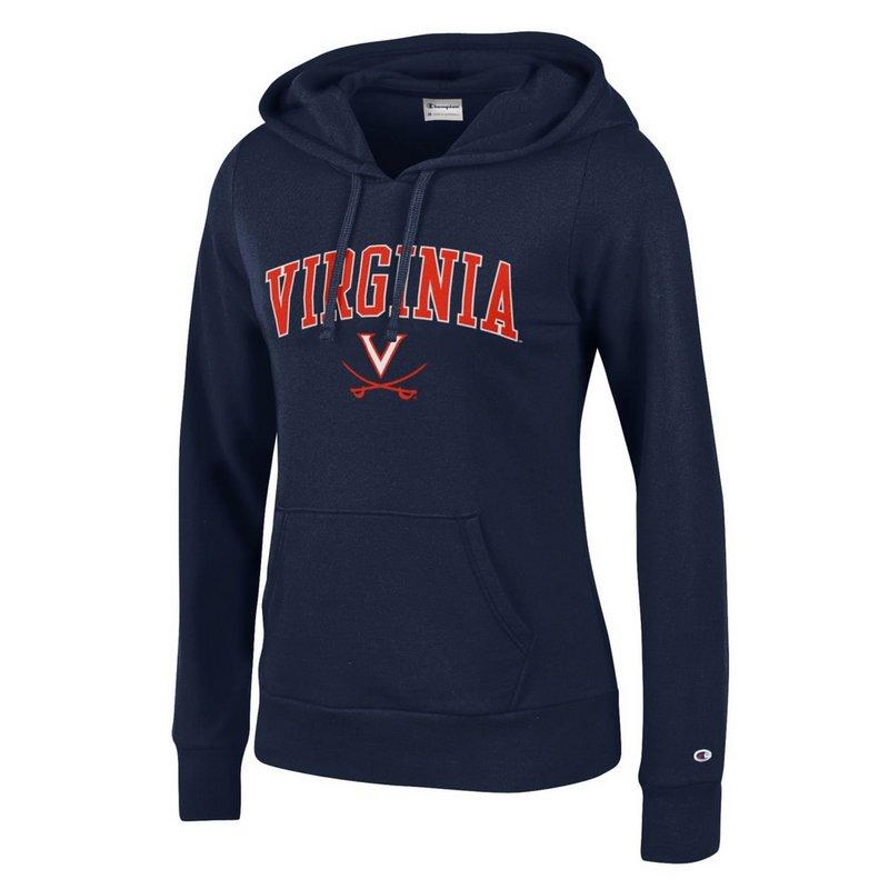 Virginia Cavaliers Womens Hooded Sweatshirt Navy APC03151291