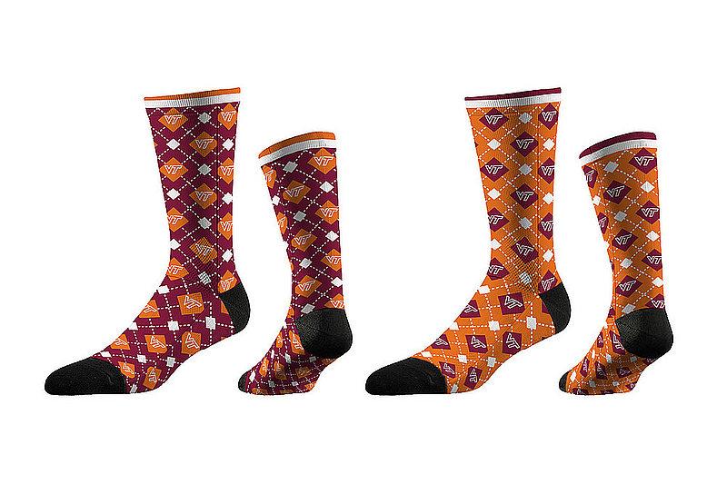 Virginia Tech Hokies Argyle Sock 2-Pack