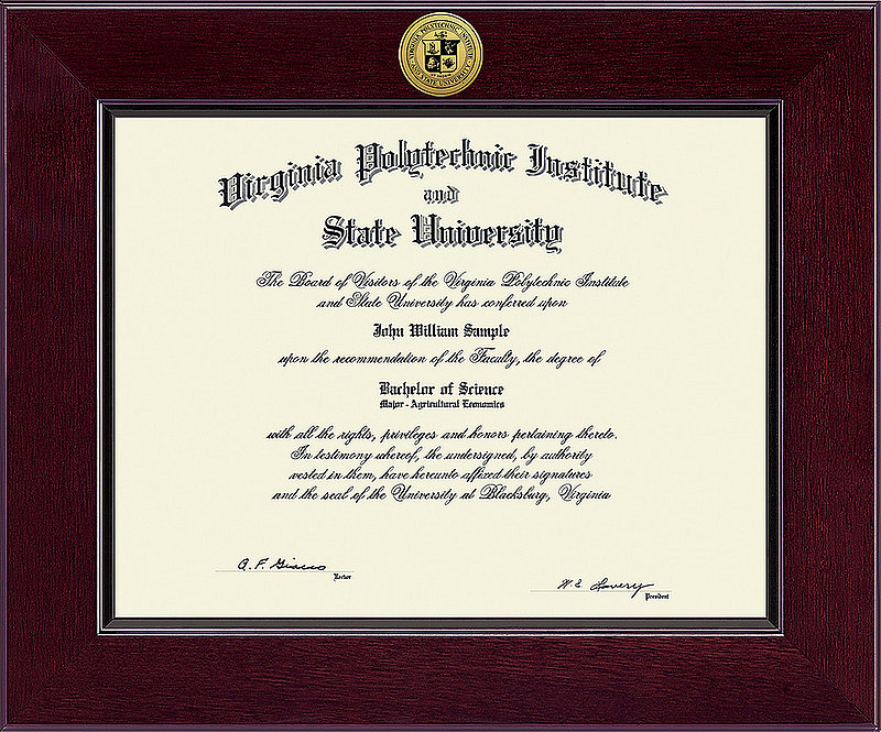 Virginia Tech Hokies Diploma Frame 303476