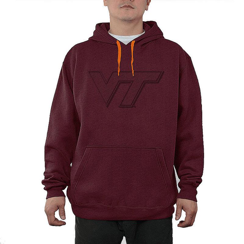 Virginia Tech Hokies Embossed Hooded Sweatshirt Captain Maroon VIT28818