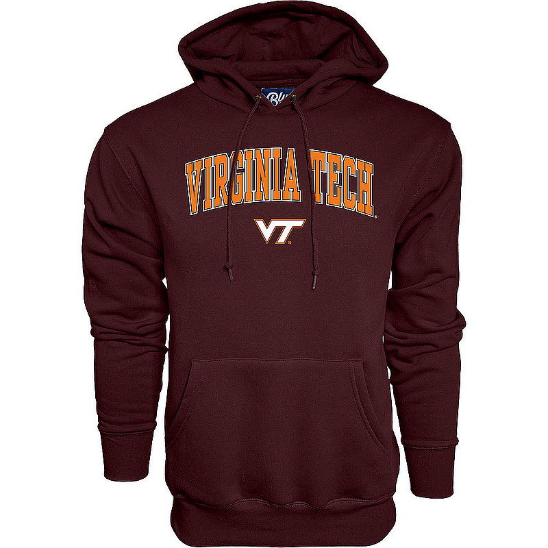 Virginia Tech Hokies Hooded Sweatshirt Varsity Maroon Arch Over APC02964296*