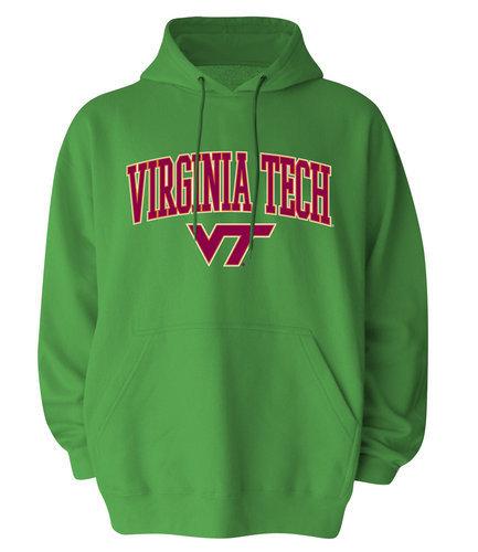 Virginia Tech Hokies Hoodie Sweatshirt Green