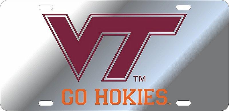 Virginia Tech Hokies License Plate Silver 34368