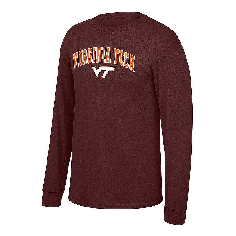 Virginia Tech Hokies Long Sleeve Shirt Arch Maroon P0005046