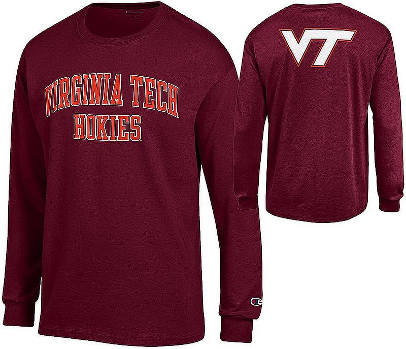 Virginia Tech Hokies Long Sleeve Tshirt Back Maroon APC03010026-APC03010025