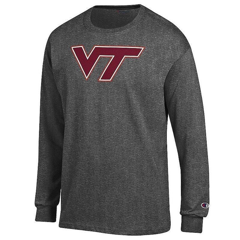 Virginia Tech Hokies Long Sleeve TShirt Charcoal Icon APC03004709*