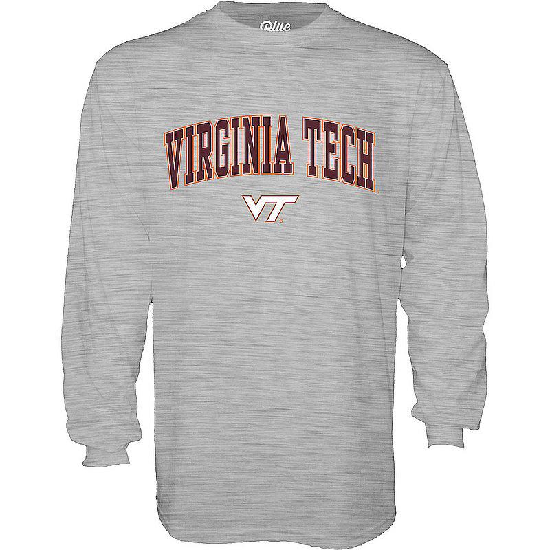 Virginia Tech Hokies Long Sleeve TShirt Varsity Gray 00000000BCRMR