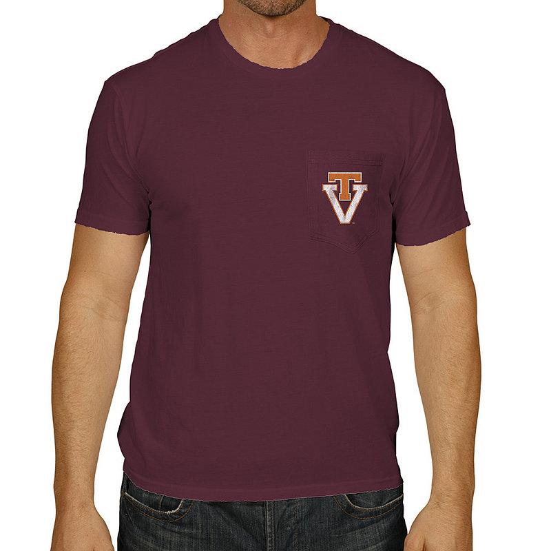 Virginia Tech Hokies Pocket TShirt Maroon RB128