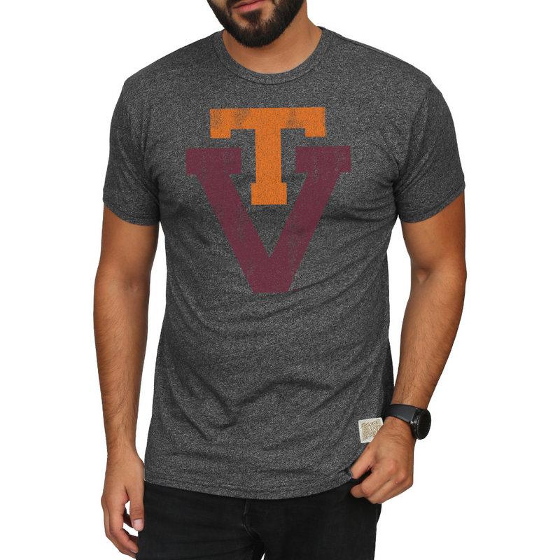 Virginia Tech Hokies Retro TShirt Charcoal RB124_CVAT061A_MTCH