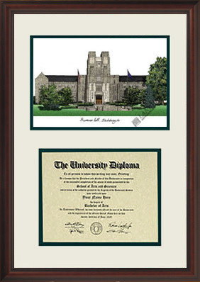 Virginia Tech Hokies Scholar Framed Lithograph and Diploma Frame DSCIVT
