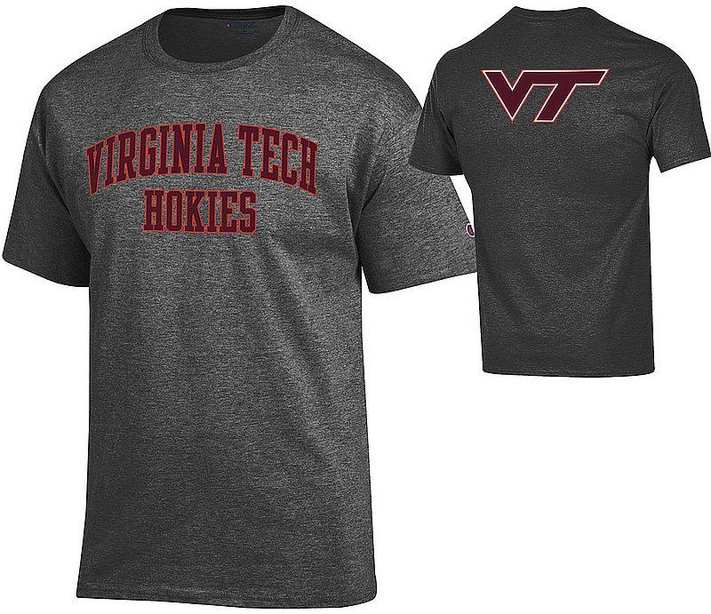 Virginia Tech Hokies Tshirt Back Charcoal APC03026218-APC03010027