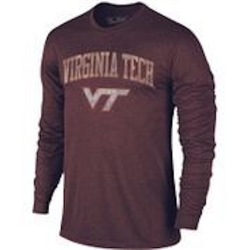 Virginia Tech Hokies Vintage Long Sleeve Tshirt Maroon Victory TV402_VATV1412A_HMR