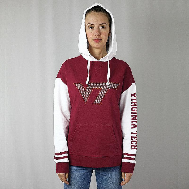 Virginia Tech Hokies Women's Hooded Sweatshirt Captain Maroon VITFH772