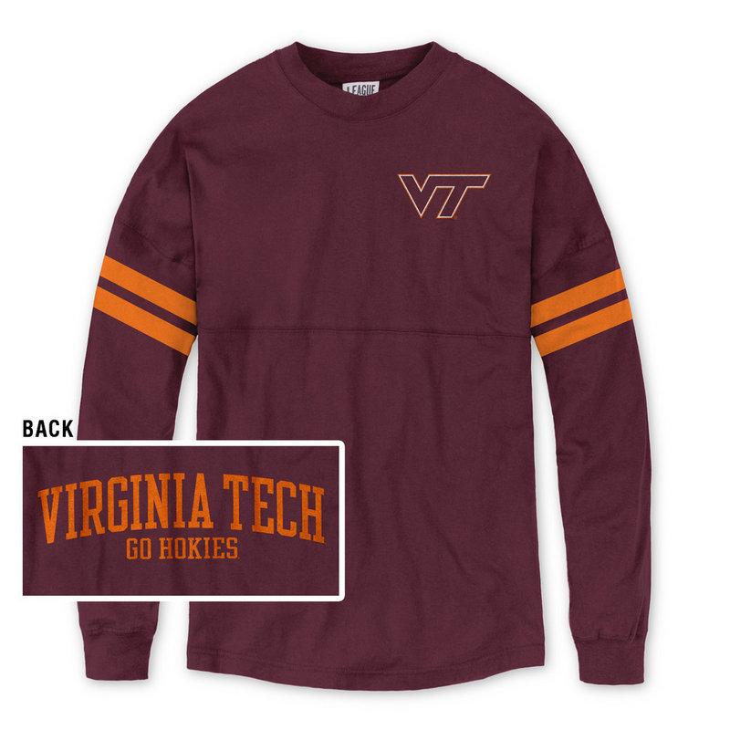 Virginia Tech Hokies Women's Long Sleeve TShirt Maroon R11-91525