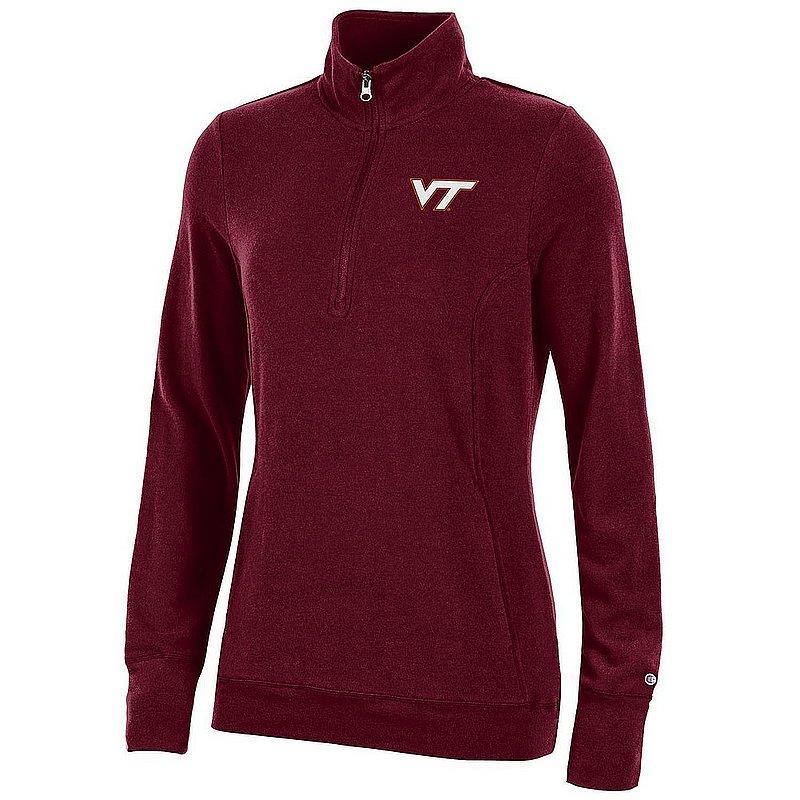 Virginia Tech Hokies Women's Quarter Zip Maroon APC03320141