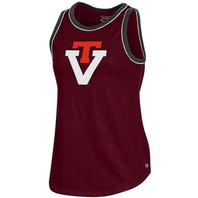 Virginia Tech Hokies Women's Slub Ringer Tank Top APC03325016