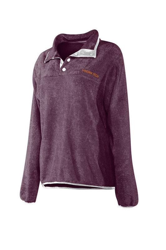 Virginia Tech Hokies Women's Snap Pullover Sweatshirt 439-08-VT441